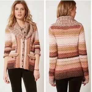 Anthropologie Sleeping On Snow Knit cardigan